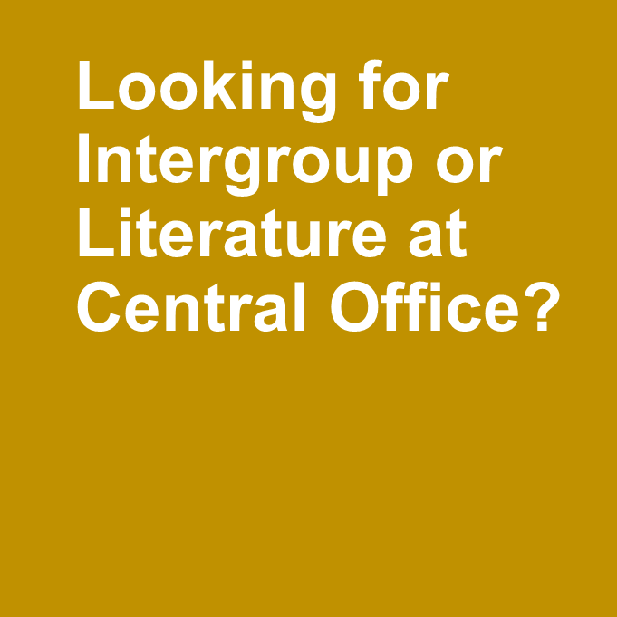 Your Intergroup and Central Office